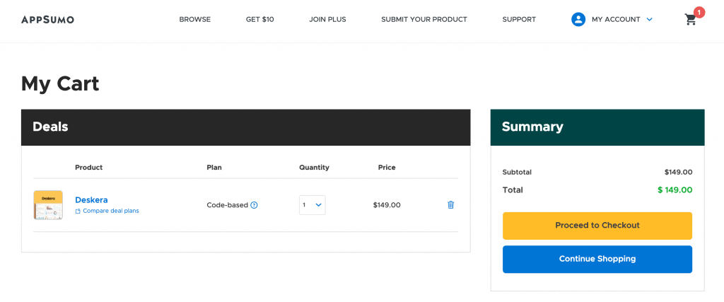 How to grab a deal or offer on AppSumo 1