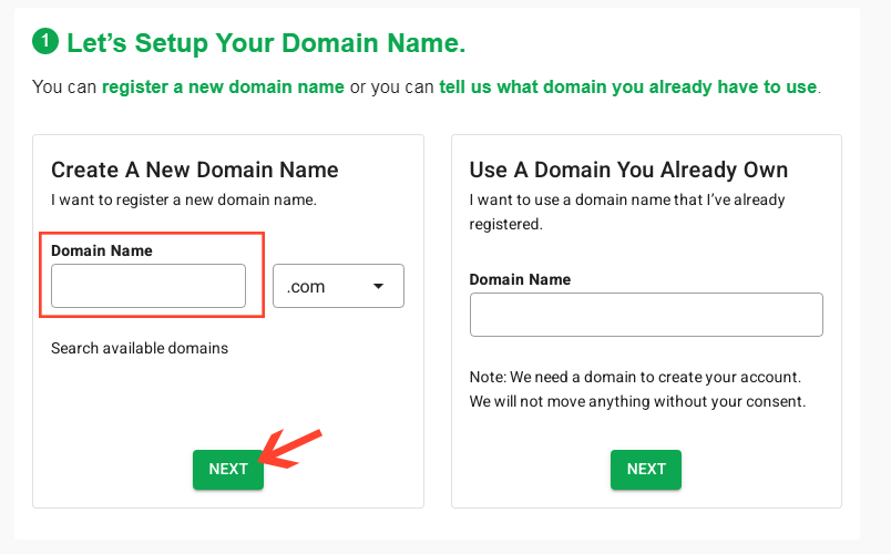 blog name and register a free domain name for your blog